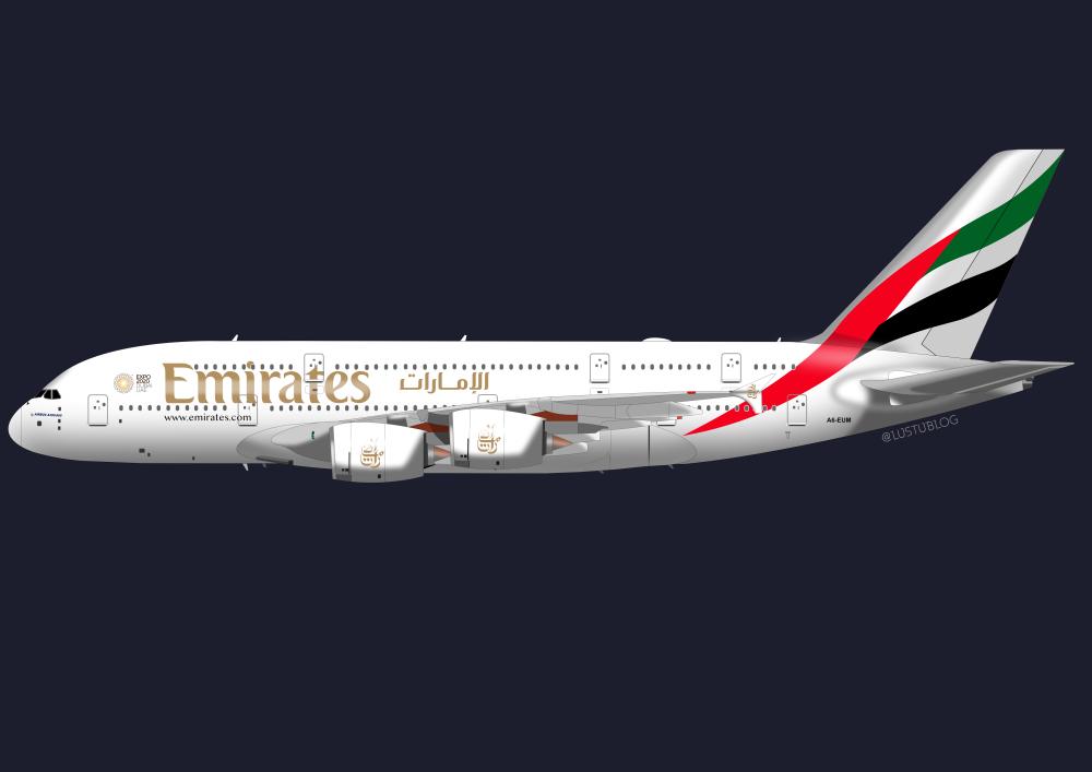 A380-800 UAE